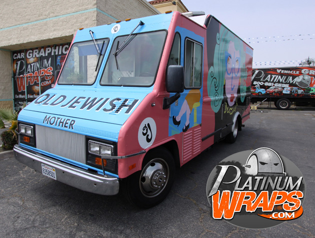 Platinum wraps car wraps vehicle graphics bus decals for Food truck design software