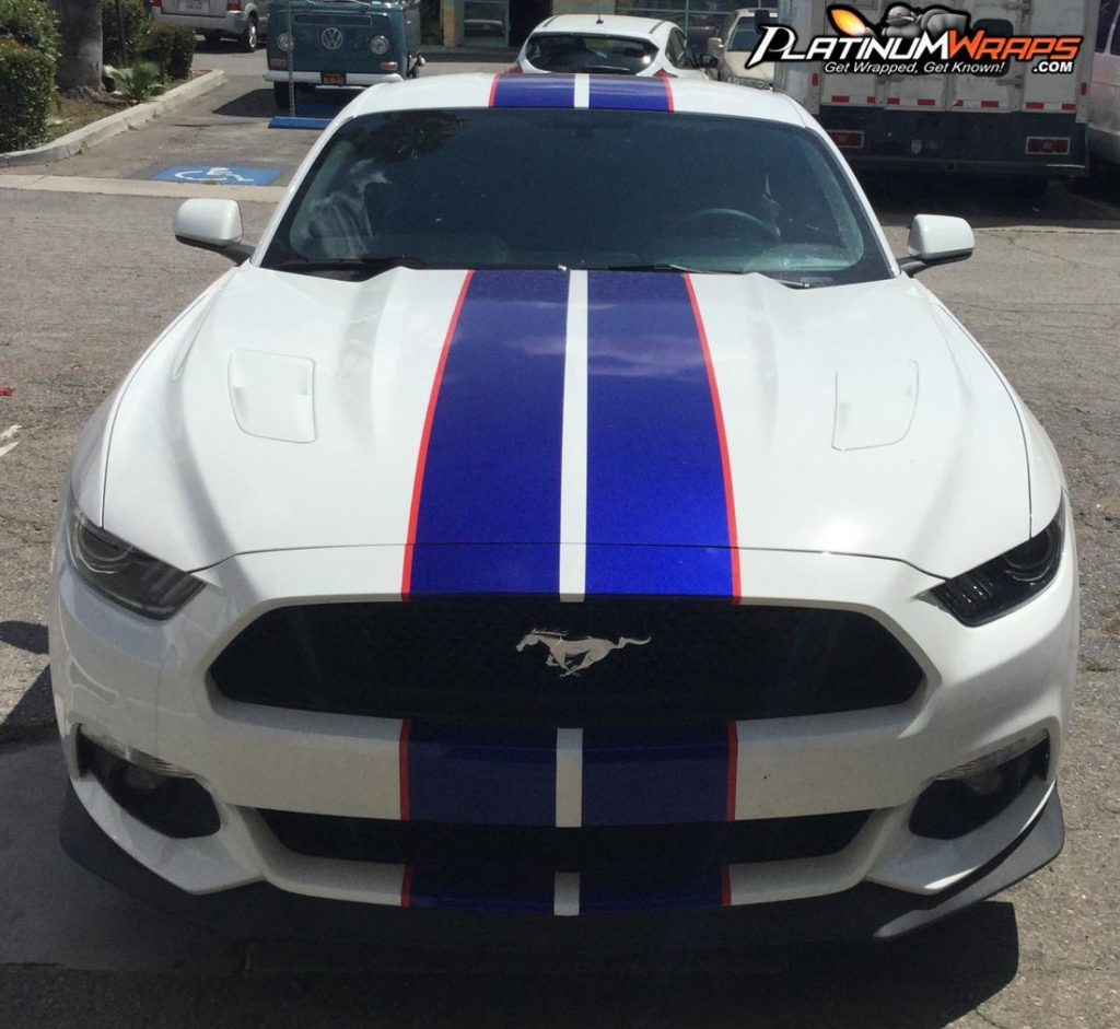 Racing stripes mustang camero decals vinyl platinum wraps