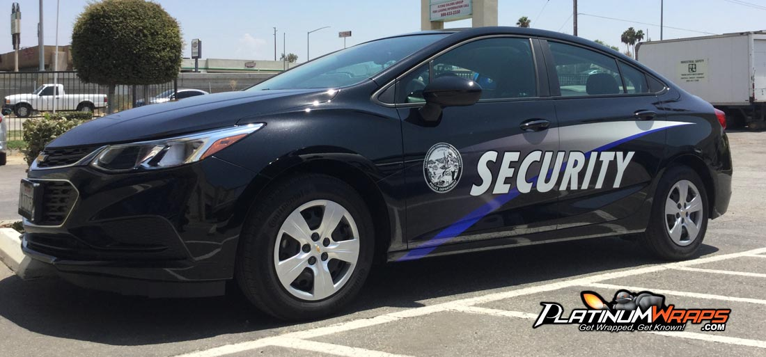 Security Car Wrap Decals2 Platinum Wraps