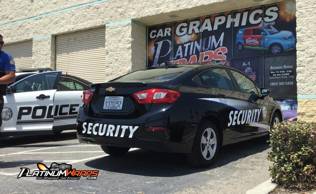 Security Car Wrap Decals3 Platinum Wraps