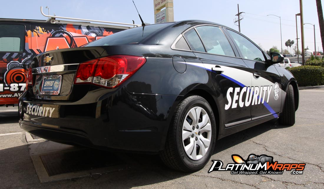 Security Car Wrap Patrol Decals 2 Platinum Wraps