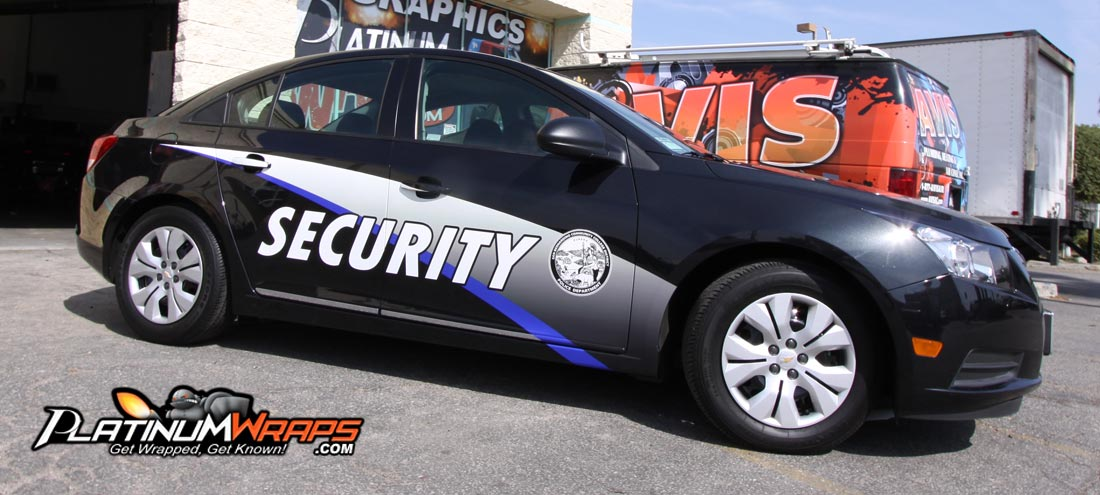 Security Car Wrap Patrol Decals Platinum Wraps
