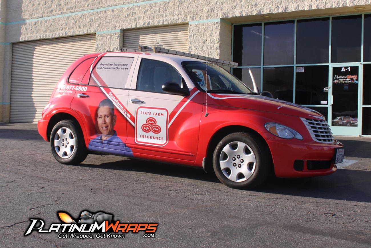 State Farm Quote Car Statefarmwrapcarvehicle  Platinum Wraps