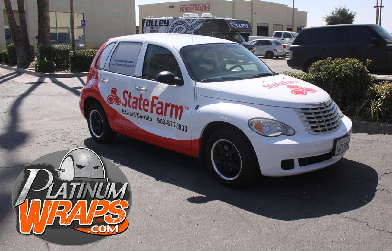 State Farm Quote Car Statefarmwrapptcruiser  Platinum Wraps