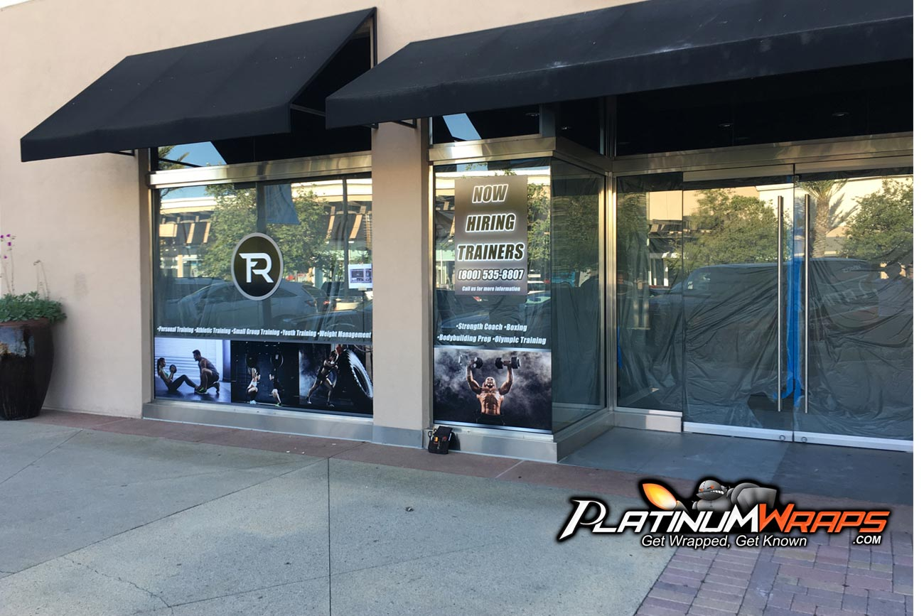 Store Front Wrap Gym Fitness Graphics