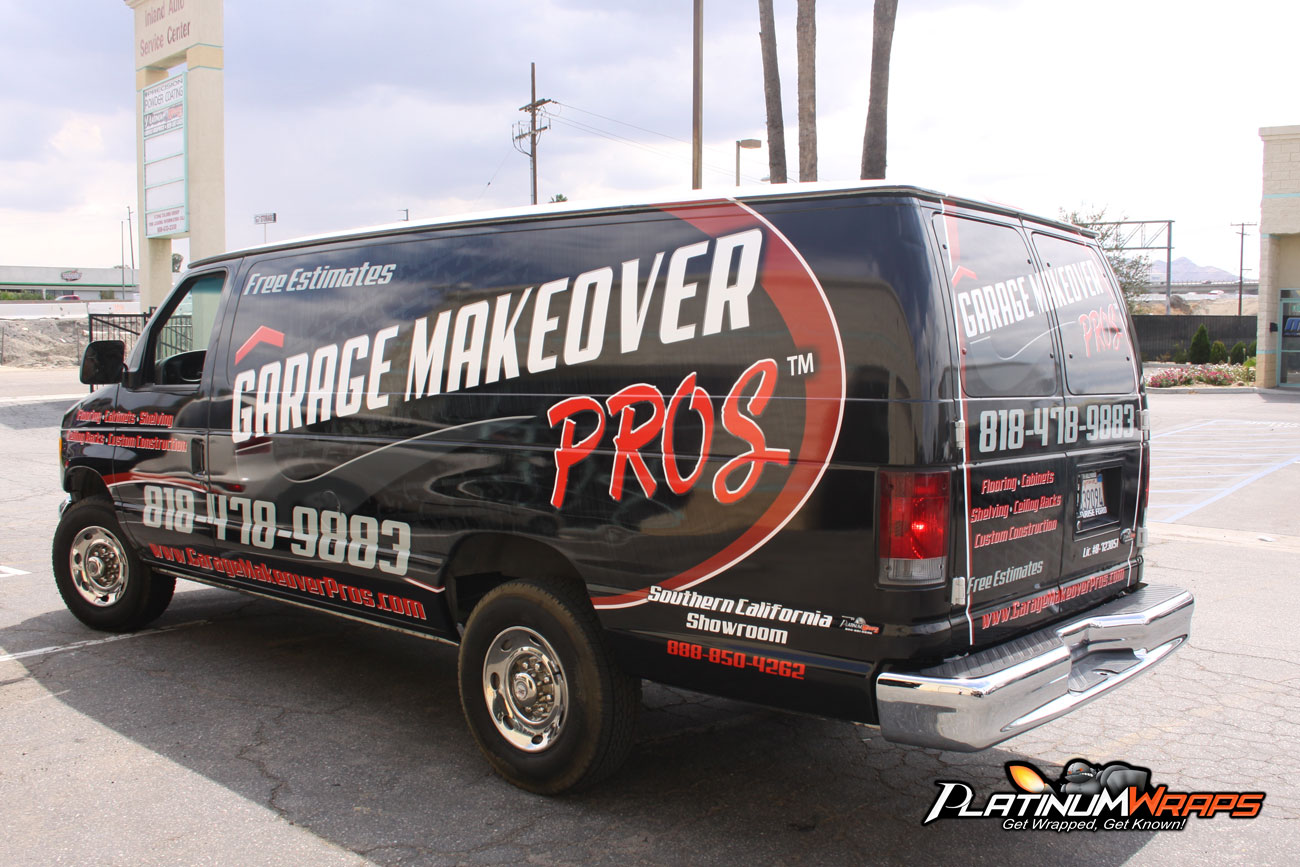 Garage van wraps 2 platinum wraps for Garage wraps