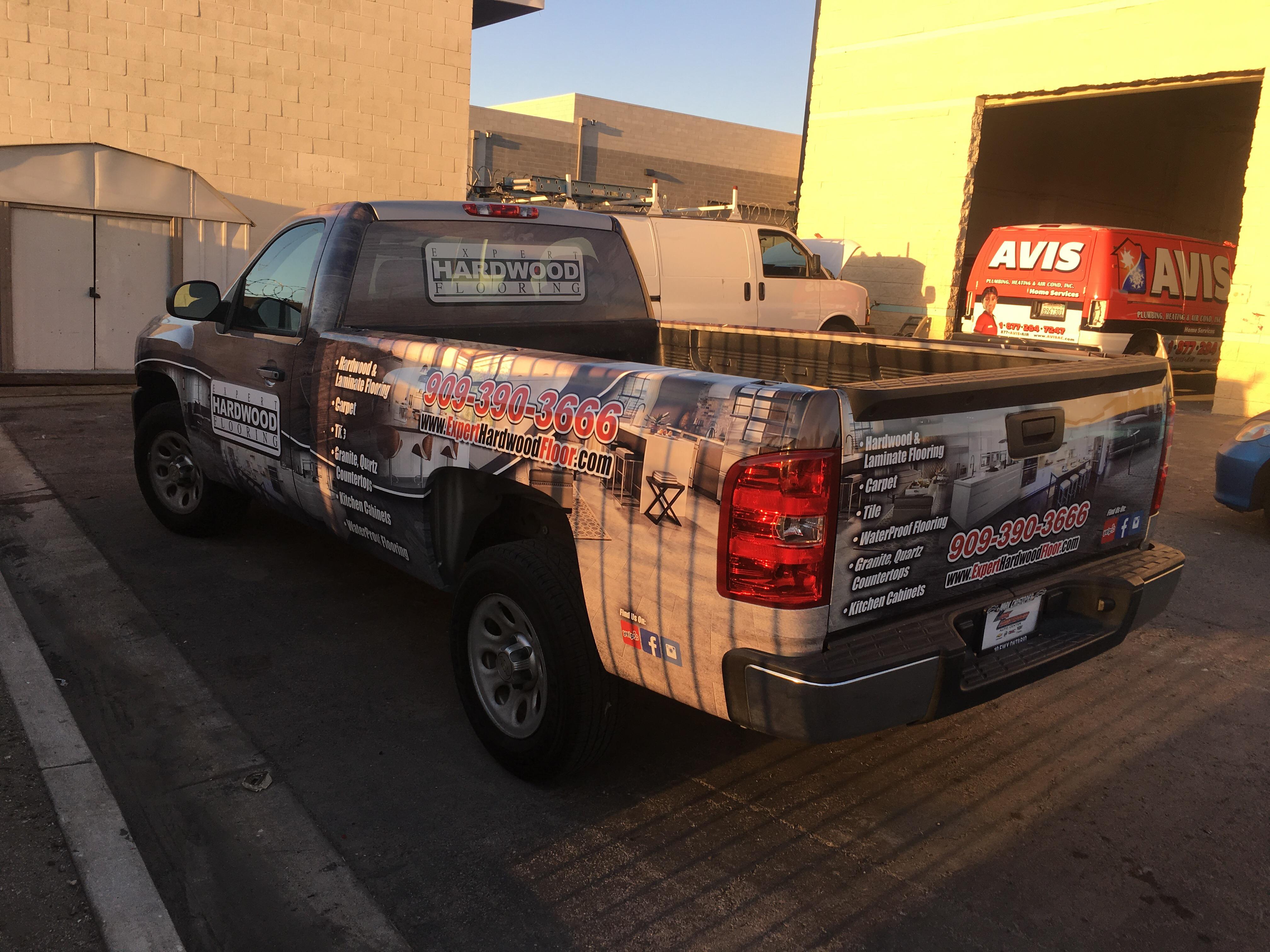 Truck wraps ontario CA flooring construction