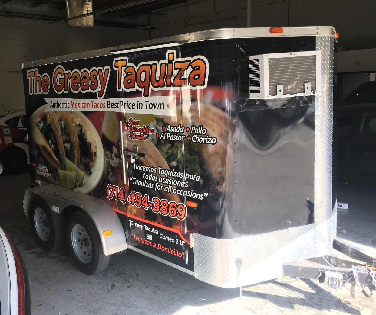 Trailer wrap for taco wrap