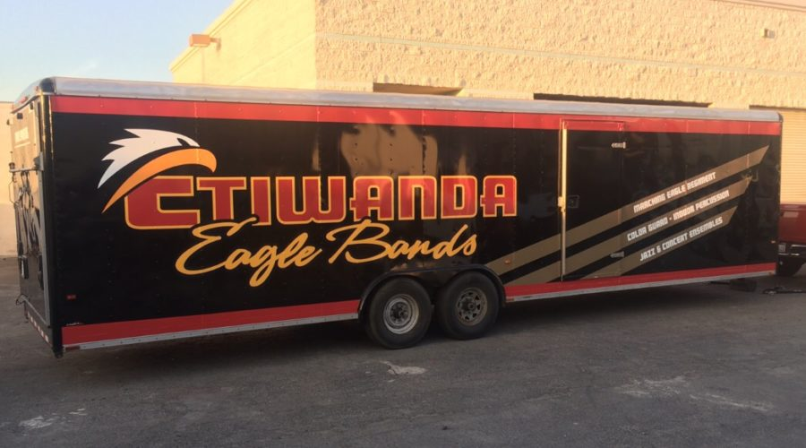 Trailer wrap for school band
