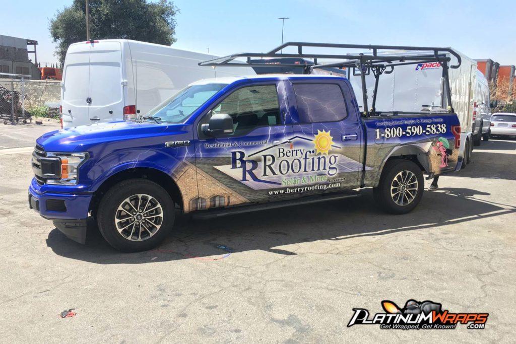 8018406678 Truck Wraps full custom graphics - Platinum Wraps